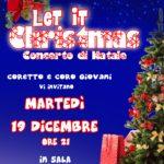 """Concerto di Natale del Coro e del Coretto """"Let it Christmas"""" – 19 dicembre 2017"""
